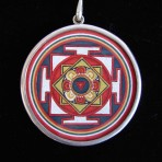 Mandala-Om Pendant by Laura Baum (Light)